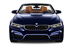 Car photography straight front view of a 2018 BMW M4 Base 2 Door Convertible