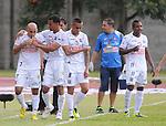 ITAGÜÍ – COLOMBIA _ 20-04-2014 / En compromiso correspondiente a la fecha 18 del Torneo Apertura Colombiano 2014, Itagüí igualó 2 – 2 con el Once Caldas en el estadio metropolitano de Ditaires de Itagüí. / Edwards Jiménez celebra el primer tanto del Once Caldas.