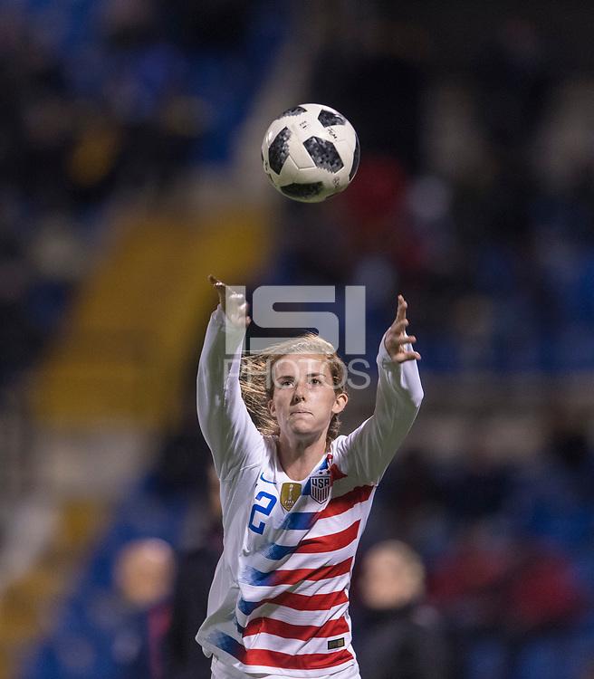 Alicante, Spain - January 22, 2019:  The USWNT defeated Spain 1-0 at Estadio Jose Rico Perez.