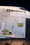 "Space Shuttle Discovery, Air & Space Museum - Steven F. Udvar-Hazy Center ""Cut Here For Emergency Rescue"""