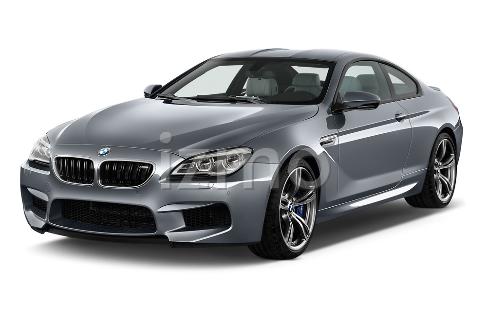 2017 BMW M6 - 2 Door Coupe Angular Front stock photos of front three quarter view