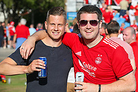 Aberdeen fans enjoy the build up to the game<br /> <br /> Photographer Alex Dodd/CameraSport<br /> <br /> UEFA Europa League - Europa League Qualifying Round 2 2nd Leg - Burnley v Aberdeen - Thursday 2nd August 2018 - Turf Moor - Burnley<br />  <br /> World Copyright © 2018 CameraSport. All rights reserved. 43 Linden Ave. Countesthorpe. Leicester. England. LE8 5PG - Tel: +44 (0) 116 277 4147 - admin@camerasport.com - www.camerasport.com