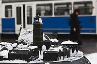 Europe/Voïvodie de Petite-Pologne/Cracovie:   Maquette de  la place  de l'église de tous les Saints devant la mairie de Cracovie - Vieille ville (Stare Miasto) classée Patrimoine Mondial de l'UNESCO,