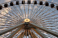 The ferris wheel towers 15-stories above Navy Pier in Chicago, Illinois on August 5, 2008.