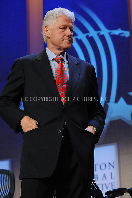 WWW.ACEPIXS.COM . . . . . ....September 24 2009, New York City....Bill Clinton at the Clinton Global Initiative on September 24 2009 in New York City....Please byline: KRISTIN CALLAHAN - ACEPIXS.COM.. . . . . . ..Ace Pictures, Inc:  ..tel: (212) 243 8787 or (646) 769 0430..e-mail: info@acepixs.com..web: http://www.acepixs.com