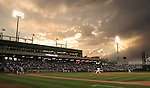 Sunset as the Reno Aces play the Tacoma Rainiers on Friday night.  Tom Smedes photo.