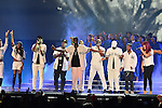 MIAMI, FL - SEPTEMBER 10: Total, Carl Thomas, Sheek Louch of The Lox, Sean 'Diddy' Combs aka Puff Daddy,112, Mase, Faith Evans, Stevie J, Lil' Kim preform onstage during the Bad Boy Family Reunion Tour at American Airlines Arena on September 10, 2016 in Miami, Florida.  ( Photo by Johnny Louis / jlnphotography.com )