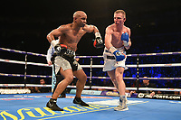 Ted Cheeseman (white shorts) defeats Carson Jones during a Boxing Show at The O2 on 3rd February 2018