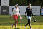 Golfer Nattagate Nimitpongkul of Thailand (R) and Yilin Song of China (L) during the 2017 Hong Kong Ladies Open on June 9, 2017 in Hong Kong, China. Photo by Chris Wong / Power Sport Images
