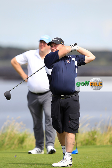 David Walsh (Castlebar) during the final of the AIG Jimmy Bruen Shield Connacht Final, in Galway Bay Golf Club, Galway, Ireland. 12/08/2017<br /> Picture: Fran Caffrey / Golffile