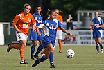 03 July 2008: Charlotte's Carrie Lorenz (16). The Charlotte Lady Eagles defeated the Carolina Railhawks Women 3-0 at WakeMed Stadium in Cary, NC in a 2008 United Soccer League W-League regular season game.