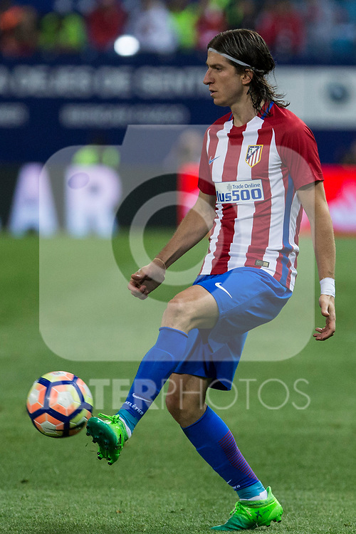 Filipe Luis of Atletico de Madrid during the match of La Liga between Atletico de Madrid and Villarreal at Vicente Calderon  Stadium  in Madrid, Spain. April 25, 2017. (ALTERPHOTOS/Rodrigo Jimenez)