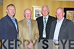 Four retirees from St Finians Hospital Killarney at their retirement party in the Killarney Avenue Hotel Killarney on Friday night front row l-r: Michael G Murphy Scartaglen, Con O'Mahony Spa, Dio Buckley Listry and Michea?l Murphy Fossa
