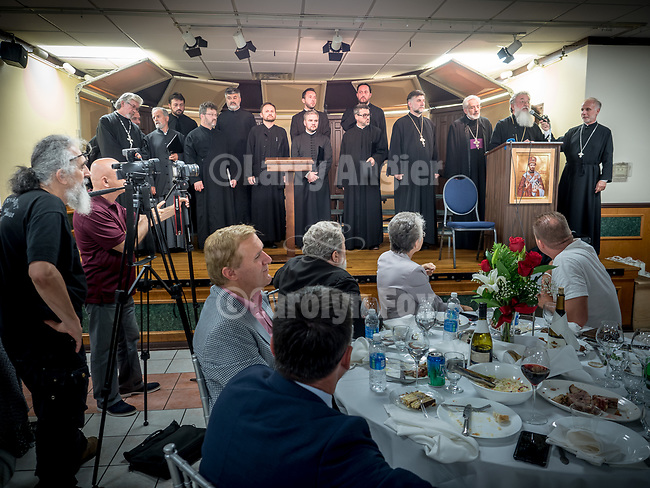Bishop Longin thanks everyone at the Banquet at the conclusion of the Glorification of St. Mardarije at the fellowship hall, New Gracanica Monastery, Third Lake, Illinois, with Patriarch Irinej and hosted by Bishop Longin.<br /> <br /> #NGMWADiocese<br /> #GlorificationStMardarije, #Chicago, #PatriarchIrinej, #MetropolitanAmphiloije<br /> #SerbianOrthodoxChurchPatriarchal Divine Liturgy service with His Holiness Irinej to venerate and glorify the relics of St. Mardarije of Libertyville, St. Sava Monastery Church<br /> <br /> #NGMWADiocese<br /> #GlorificationStMardarije, #Chicago, #PatriarchIrinej, #MetropolitanAmphiloije<br /> #SerbianOrthodoxChurch<br /> #www.stsavamonastery.org