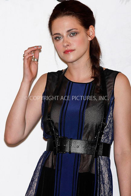 WWW.ACEPIXS.COM . . . . .  ..... . . . . US SALES ONLY . . . . .....May 17 2012, Madrid....Kristen Stewart at a photocall for 'Snow White and the Huntsman' on May 17 2012 in Madrid....Please byline: FAMOUS-ACE PICTURES... . . . .  ....Ace Pictures, Inc:  ..Tel: (212) 243-8787..e-mail: info@acepixs.com..web: http://www.acepixs.com