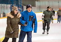 """Nora and Stan Matej, of Sarnia, joined a healthy crowd of skaters during the public at the Clearwater Arena. The pair skate two or three times a week. """"It's a free skate,"""" said Nora. """"The price is right."""""""