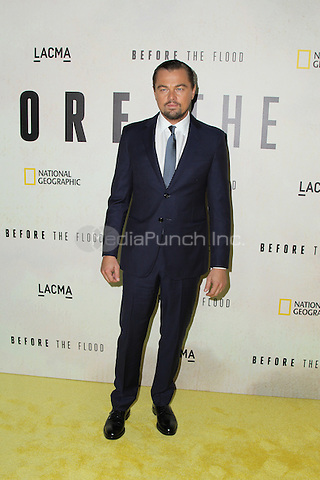 LOS ANGELES, CA - OCTOBER 24: Leonardo DiCaprio attends the Screening of National Geographic Channel's 'Before The Flood' at Bing Theater At LACMA on October 24, 2016 in Los Angeles, California. (Credit: Parisa Afsahi/MediaPunch).