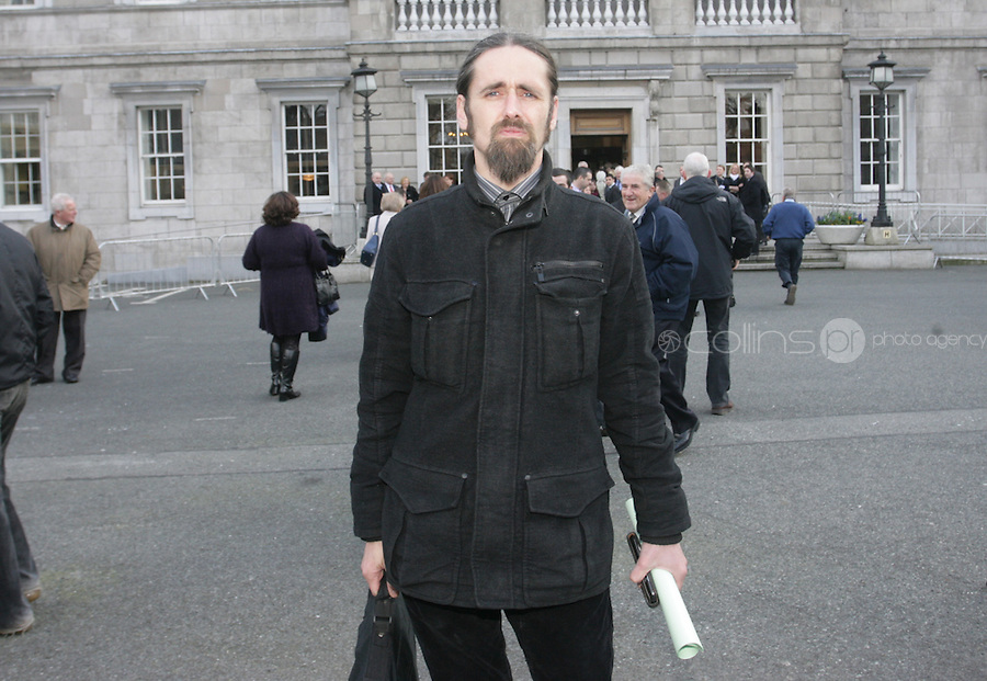 """09/03/2011.Luke """" ming the merciless"""" Flannagan.during the 1st day of the 31st Dail.at Leinster House,  Dublin..Photo: Gareth Chaney Collins"""