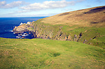 Cliffs coastal scenery, Hermaness, Unst, Shetland islands, Scotland