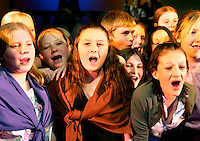 School Children perform the musical Oliver in a British School