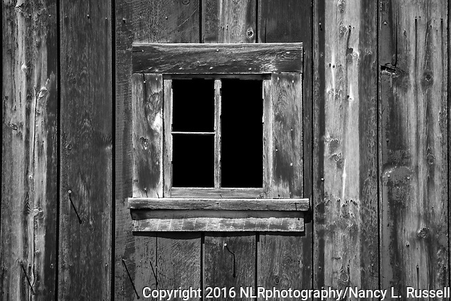 Barn window in Montana