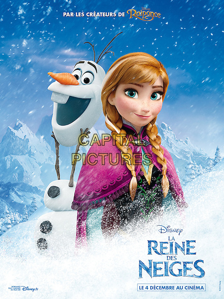 FRENCH POSTER ART<br /> in Frozen (2013) <br /> (La reine des neiges)<br /> *Filmstill - Editorial Use Only*<br /> CAP/NFS<br /> Image supplied by Capital Pictures
