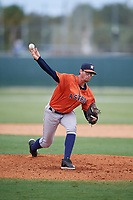 GCL Astros pitcher Kevin Holcomb (52) during a Gulf Coast League game against the GCL Marlins on August 8, 2019 at the Roger Dean Chevrolet Stadium Complex in Jupiter, Florida.  GCL Marlins defeated GCL Astros 5-4.  (Mike Janes/Four Seam Images)
