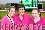 Christina, Bridget and Teresa O'Regan Killarney watching the race on the big screen at the Killarney Races on Monday
