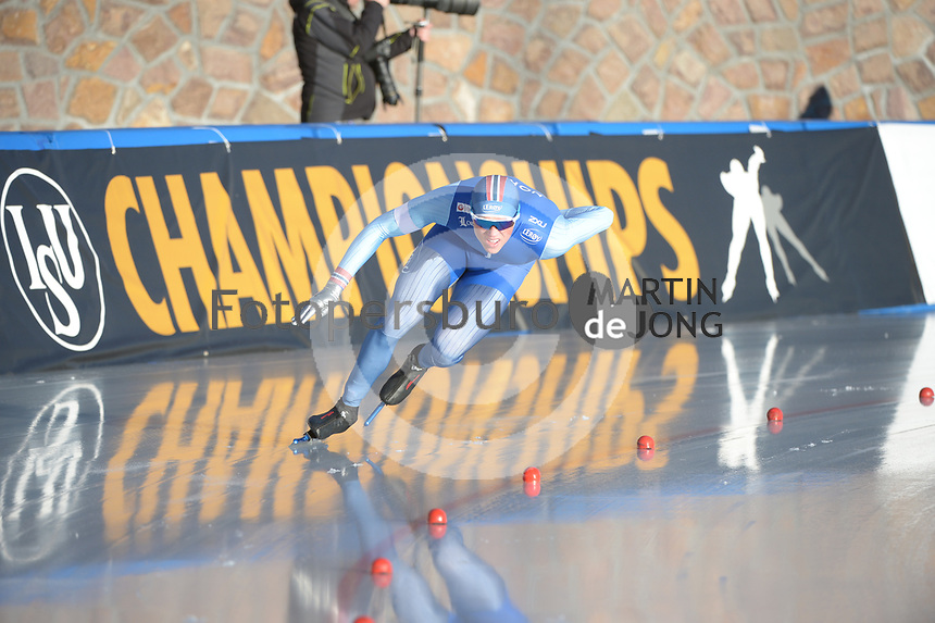 SPEED SKATING: COLLALBO: Arena Ritten, 11-01-2019, ISU European Speed Skating Championships, Bjørn Magnussen (NOR), ©photo Martin de Jong