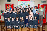 5th class at SPA national school showcase their JEP project Spa's Picturesque Postcards with the help of Kieran Donaghy and Colin Teahan of Pst Sport on Thursday