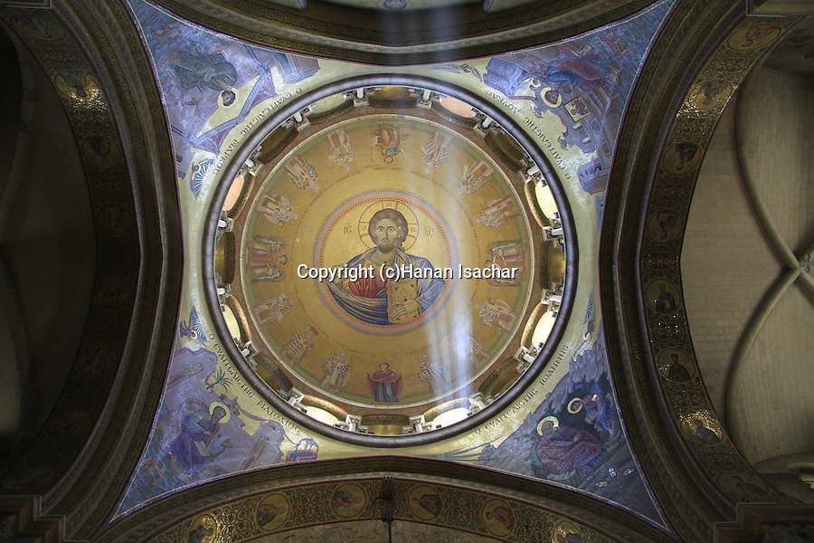 Israel, Jerusalem, the dome of the Katholikon at the Church of the Holy Sepulchre