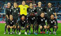 US Men's National Team Starting Eleven. Slovakia defeated the US Men's National Team 1-0 at the Tehelne Pole in Bratislava, Slovakia on November 14th, 2009.