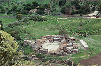 Querahuitera ceremonial center. Wixarika (Huichol) community in the Sierra Madre Occidental, Mexico