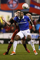 Ishmael Miller of Oldham Athletic during Hampton & Richmond Borough vs Oldham Athletic, Emirates FA Cup Football at the Beveree Stadium on 12th November 2018