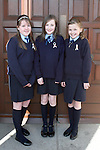 Shauna Dalton, Saoirse Mallon and Shannon Finlay at the Ballymakenny NS Confirmation...Photo NEWSFILE/Jenny Matthews.(Photo credit should read Jenny Matthews/NEWSFILE)....This Picture has been sent you under the condtions enclosed by:.Newsfile Ltd..The Studio,.Millmount Abbey,.Drogheda,.Co Meath..Ireland..Tel: +353(0)41-9871240.Fax: +353(0)41-9871260.GSM: +353(0)86-2500958.email: pictures@newsfile.ie.www.newsfile.ie.FTP: 193.120.102.198.