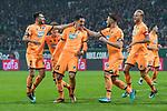 13.01.2018, Weser Stadion, Bremen, GER, 1.FBL, Werder Bremen vs TSG 1899 Hoffenheim, im Bild<br /> <br /> 0 zu 1 Benjamin H&uuml;bner / Huebner (1899 Hoffenheim #21) per Kopfball gegen Jiri Pavlenka (Werder Bremen #1)<br /> <br /> jubel mit der Mannschaft<br /> <br /> Foto &copy; nordphoto / Kokenge