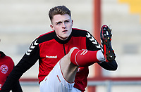 Fleetwood Town's Harry Souttar warming up before the match   <br /> <br /> Photographer Andrew Kearns/CameraSport<br /> <br /> The EFL Sky Bet League One - Fleetwood Town v Charlton Athletic - Saturday 2nd February 2019 - Highbury Stadium - Fleetwood<br /> <br /> World Copyright © 2019 CameraSport. All rights reserved. 43 Linden Ave. Countesthorpe. Leicester. England. LE8 5PG - Tel: +44 (0) 116 277 4147 - admin@camerasport.com - www.camerasport.com