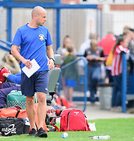 Gainsborough Trinity manager Liam King<br /> <br /> Photographer Chris Vaughan/CameraSport<br /> <br /> Football Pre-Season Friendly (Community Festival of Lincolnshire) - Gainsborough Trinity v Lincoln City - Saturday 6th July 2019 - The Martin & Co Arena - Gainsborough<br /> <br /> World Copyright © 2018 CameraSport. All rights reserved. 43 Linden Ave. Countesthorpe. Leicester. England. LE8 5PG - Tel: +44 (0) 116 277 4147 - admin@camerasport.com - www.camerasport.com