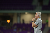 Orlando, FL - Thursday September 07, 2017: Tom Sermanni during a regular season National Women's Soccer League (NWSL) match between the Orlando Pride and the Seattle Reign FC at Orlando City Stadium.