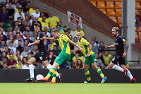 Marco Stiepermann of Norwich City takes a shot at goal during Norwich City vs Middlesbrough, Sky Bet EFL Championship Football at Carrow Road on 15th September 2018