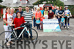 The Kelliher family from Caragh Lake along with friends and family who are organising a cycling fundraiser for Bru Columbanus.<br /> Front Caroline Coffey, Tim, Angela, Stephen and Tim Kelliher.<br /> second row left to right Liam Coffey, Nicole Flynn, Luke Coffey, Cllr John Francis Flynn, Emma Coffey, Siomha and Eadaoin Clifford. <br /> Third row left to right Mary Naughton, Kitty Flynn Helena Kelliher and Leanne Kelliher. <br /> Back left to right Sarah Doona and Kalee Carroll, Connie Naughton, Tom O'Sullivan, Matt Cahillane, James Foran, Tim and John Mulvihill.