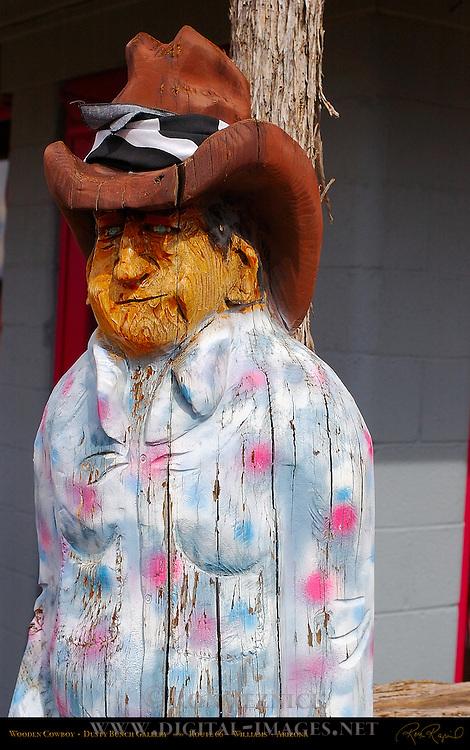 Wooden Cowboy, Dusty Bunch, Dusty Bunch Gallery, Route 66, Williams, Arizona