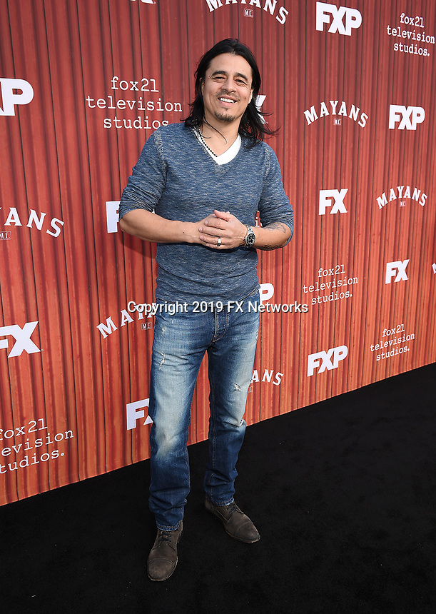 """HOLLYWOOD - MAY 29: Antonio Jaramillo attends the FYC event for FX's """"Mayans M.C."""" at Neuehouse Hollywood on May 29, 2019 in Hollywood, California. (Photo by Frank Micelotta/FX/PictureGroup)"""