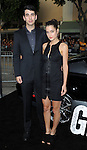 Nick Simmons and date at the Los Angels premiere of Getaway held at the Regency Village Theater August 26, 2013