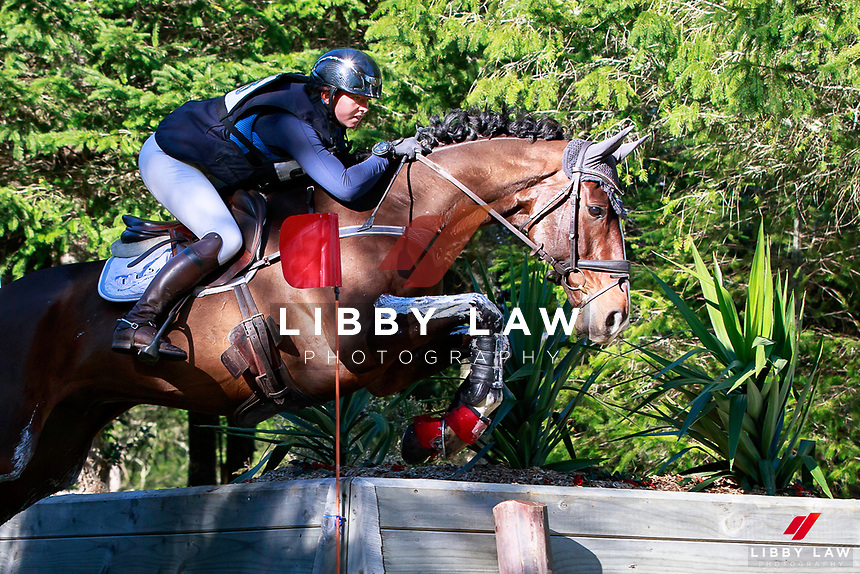 Samantha Felton rides Ricker Ridge Pico Boo into third position during the NRM CIC3* Cross Country at the 2017 NZL-NRM National Three Day Event Championships. National Equestrian Center, Taupo. Saturday 13 May. Copyright Photo: Libby Law Photography