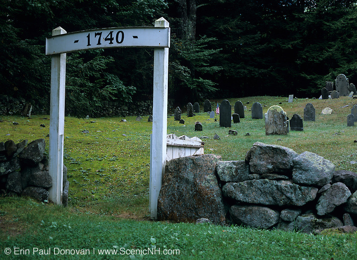 Ye Olde Cemetery in Danville, New Hampshire USA, which is part of New England