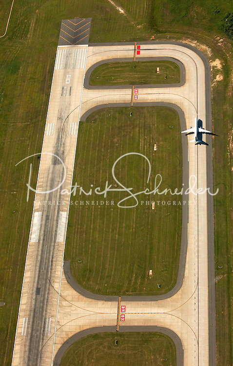 Aerial photography over Charlotte, NC, and the surrounding areas from May 2009. Photos by Charlotte photographer Patrick Schneider Photography. Photo looking down on Charlotte Douglas International Airport.