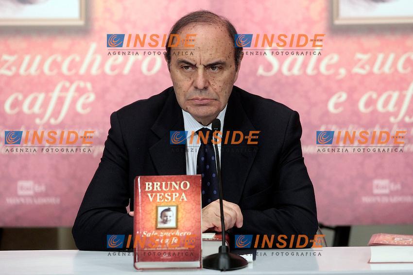 Bruno Vespa<br /> Roma 04-12-2013 Tempio do Adriano. Presentazione del libro 'Sale, zucchero e caff&egrave;'<br /> Photo Samantha Zucchi Insidefoto