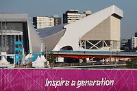 LONDRES, INGLATERRA, 24 JULHO 2012 - OLIMPIADAS PREPARATIVOS - Vista geral do Parque Olimpico de Londres, na Inglaterra, nesta terça-feira (24). A cidade serra sede da Olimpíada 2012, que começa no próximo dia 27 de julho. (FOTO: PIXATHLON / BRAZIL PHOTO PRESS).
