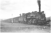 K-28 #474 with stock train.<br /> D&amp;RGW